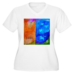 Night Fall Freedom Women's Plus Size V-Neck T-Shirt