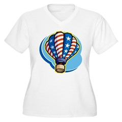 Hot Air Balloon Women's Plus Size V-Neck T-Shirt