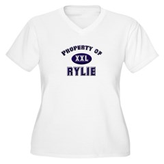 Property of rylie Women's Plus Size V-Neck T-Shirt