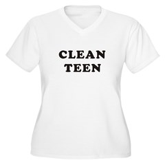 clean1_8_10 Women's Plus Size V-Neck T-Shirt