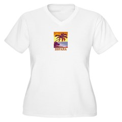 Espana Women's Plus Size V-Neck T-Shirt
