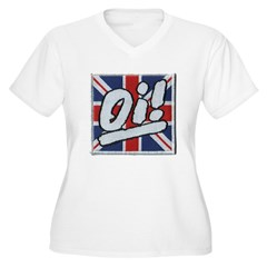 Oi Women's Plus Size V-Neck T-Shirt