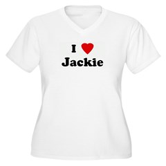 I Love Jackie Women's Plus Size V-Neck T-Shirt