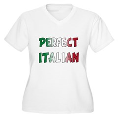 The Perfect Italian Women's Plus Size V-Neck T-Shirt