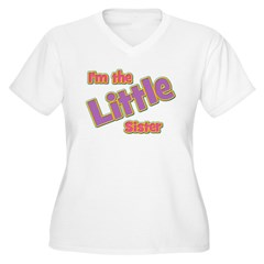 T I'm the Little Sister Women's Plus Size V-Neck T-Shirt