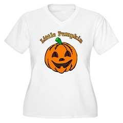 Little Pumpkin Women's Plus Size V-Neck T-Shirt