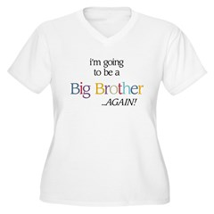 Secret AGAIN (Brother) - Women's Plus Size V-Neck T-Shirt