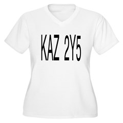 KAZ 2Y5 Women's Plus Size V-Neck T-Shirt