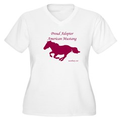 Proud Adopter rose Women's Plus Size V-Neck T-Shirt