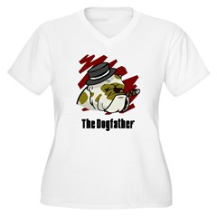 The Dogfather Women's Plus Size V-Neck T-Shirt