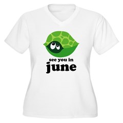 June Baby Due Date Women's Plus Size V-Neck T-Shirt