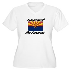 Summit Arizona Women's Plus Size V-Neck T-Shirt