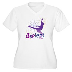 Ice Skating is Axelent Women's Plus Size V-Neck T-Shirt