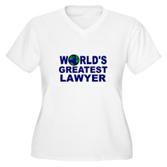 World's Greatest Lawyer Women's Plus Size V-Neck T-Shirt