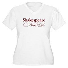 Shakespeare Nerd Products Women's Plus Size V-Neck T-Shirt