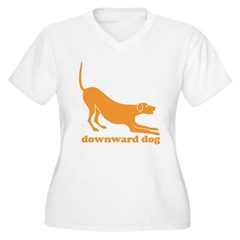 Downward Facing Dog Women's Plus Size V-Neck T-Shirt