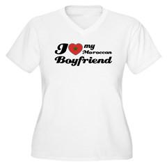 Moroccan Boy friend Women's Plus Size V-Neck T-Shirt