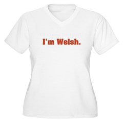 I'm Welsh Women's Plus Size V-Neck T-Shirt