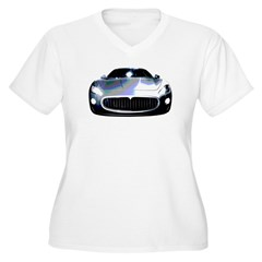 Maserati Women's Plus Size V-Neck T-Shirt
