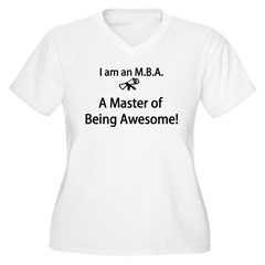 MBA Master of Being Awesome Women's Plus Size V-Neck T-Shirt