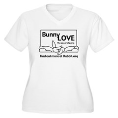 Love Somebunny Women's Plus Size V-Neck T-Shirt