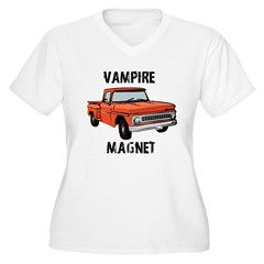 Vampire Magne Women's Plus Size V-Neck T-Shirt
