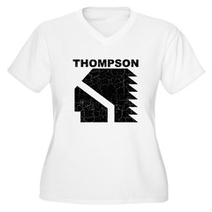 Thompson High Warriors Women's Plus Size V-Neck T-Shirt