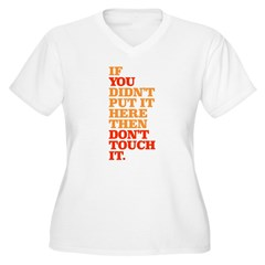 Don't Touch it Women's Plus Size V-Neck T-Shirt