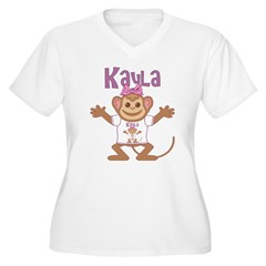 Little Monkey Kayla Women's Plus Size V-Neck T-Shirt