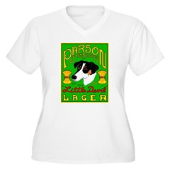 Parson Russell Terrier Women's Plus Size V-Neck T-Shirt