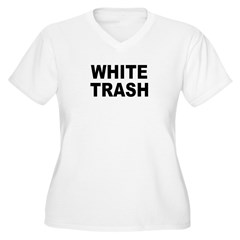 WhiteTrash.jpg Women's Plus Size V-Neck T-Shirt