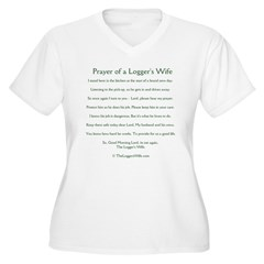 loggersprayertee Women's Plus Size V-Neck T-Shirt
