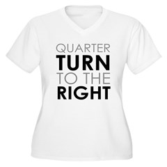 Quarter Turn Women's Plus Size V-Neck T-Shirt