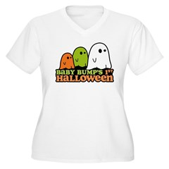 Baby Bump's 1st Halloween Women's Plus Size V-Neck T-Shirt