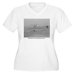 Wright Bros at Kitty Hawk 190 Women's Plus Size V-Neck T-Shirt