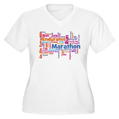 Runner Jargon Women's Sports T-Shirt Women's Plus Size V-Neck T-Shirt
