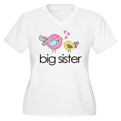 MASTER whimsy birds front no personalization Women's Plus Size V-Neck T-Shirt