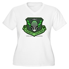 Planet Patrol Women's Plus Size V-Neck T-Shirt