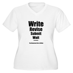 Write Revise Submit Wait Women's Plus Size V-Neck T-Shirt