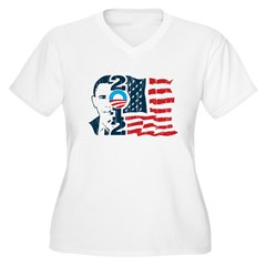 Barack Obama Women's Plus Size V-Neck T-Shirt
