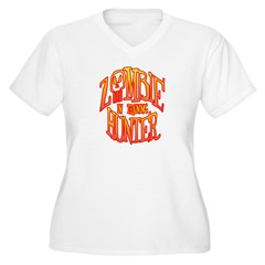 Zombie Hunter In Training Women's Plus Size V-Neck T-Shirt