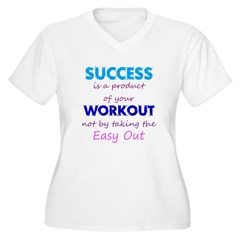 No Easy Out Women's Plus Size V-Neck T-Shirt