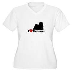 I love Maltesers Women's Plus Size V-Neck T-Shirt