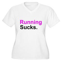 Running Sucks Women's Plus Size V-Neck T-Shirt