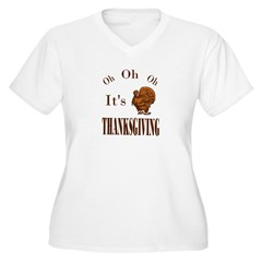 It's Thanksgiving! Women's Plus Size V-Neck T-Shirt