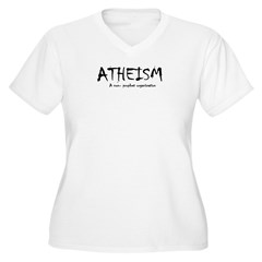ATHEISM Women's Plus Size V-Neck T-Shirt