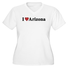 I Love Arizona Women's Plus Size V-Neck T-Shirt