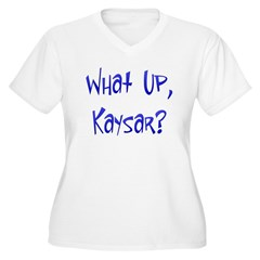 What Up Kaysar? Women's Plus Size V-Neck T-Shirt