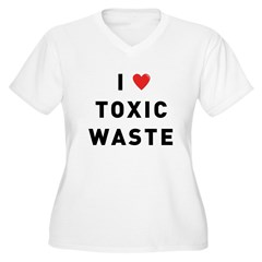 toxic_01f.jpg Women's Plus Size V-Neck T-Shirt