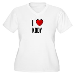 I LOVE KODY Women's Plus Size V-Neck T-Shirt